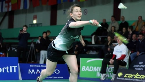 Chloe Magee also suffered elimination from the first round of the mixed doubles on Monday