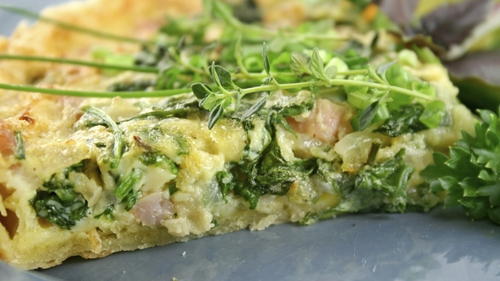 Clodagh McKenna's Lunch-time Ham and Cheese Quiche