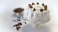Hazelnut Praline Triple Layer Cake - So worth the effort!