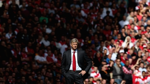 Arsenal's Manager Arsene Wenger looks on during the Barclay's Premier League match between Arsenal and Chelsea