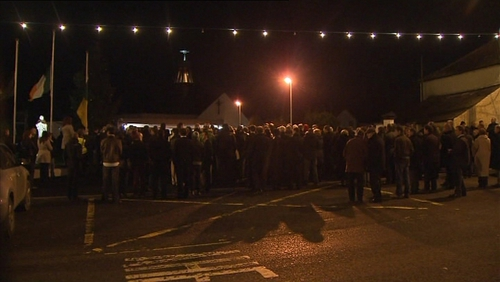 Local gardaí estimated that around two thousand people attended