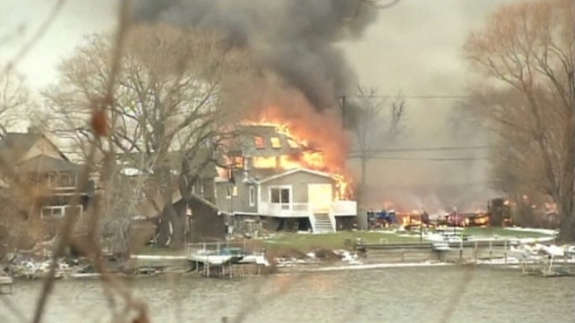 Four houses were destroyed in Webster