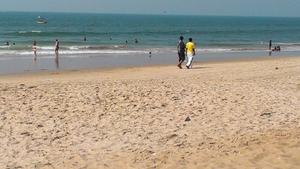 John Wisley took in the view at Calangute Beach, Goa, India
