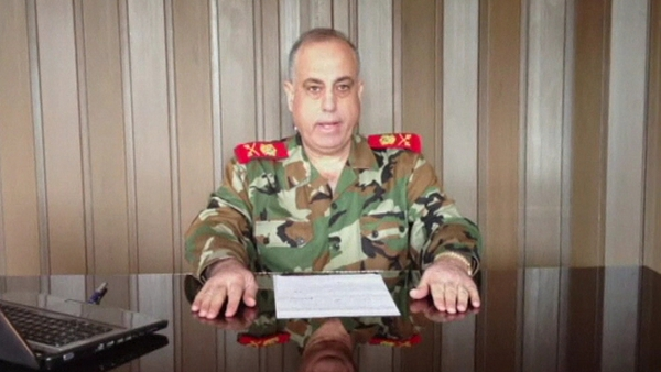 Major General Abdul Aziz al-Shalal is the highest ranking police officer to defect since the start of the conflict