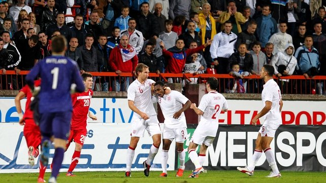 Serbian supporters racially abused Danny Rose at the Mladost Stadium