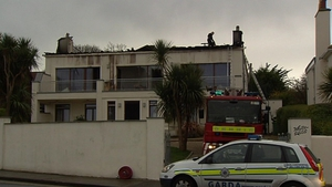 Several units of the fire brigade attended a blaze at an apartment block in Sandycove