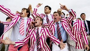 Abingdon School fans seen during the Henley Royal Regatta