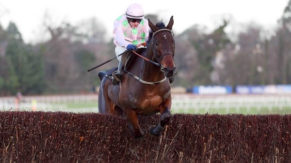 Arvika Ligeonniere ridden by Paul Townend comes home to win the Racing Post Novice Chase