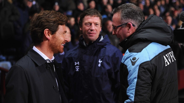 Aston Villa boss Paul Lambert welcomes Spurs gaffer André Villas-Boas to Villa Park