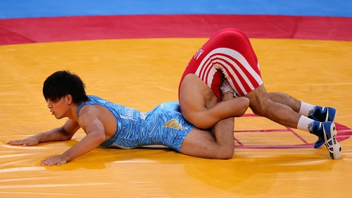 Wrestling action from the London 2012 Games