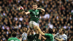 Donnacha Ryan didn't appear for Ireland in the Six Nations in 2014