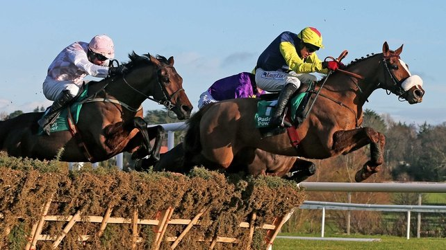 Flaxen Flare jumps the last to take victory in the opening race of day 2 at the Leopardstown Christmas Festival