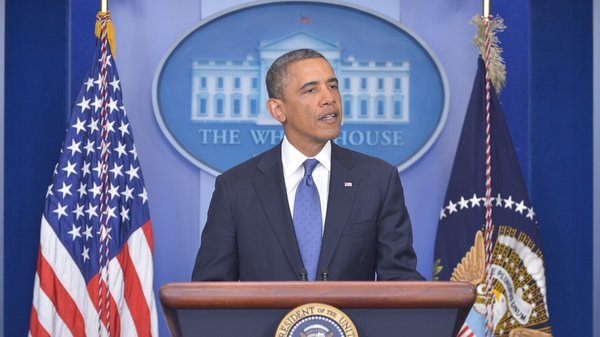 US President Barack Obama urging Congress to agree to deal