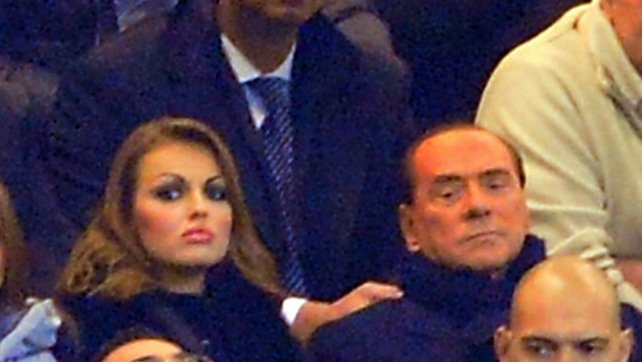 Silvio Berlusconi with his new fiancée 27-year-old Francesca Pascale