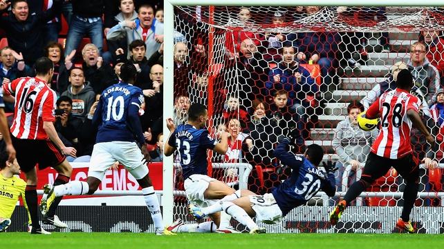 John O'Shea gave Sunderland a first-half lead