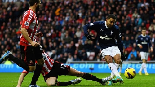 Aaron Lennon's determination saw him slot home Spurs' second on Wearside