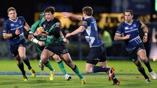 Danie Poolman makes a break for Connacht