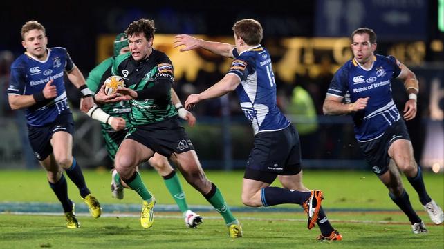 Danie Poolman makes a break for Connacht