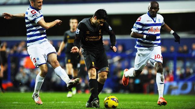 Luis Suarez put Liverpool ahead after 10 minutes