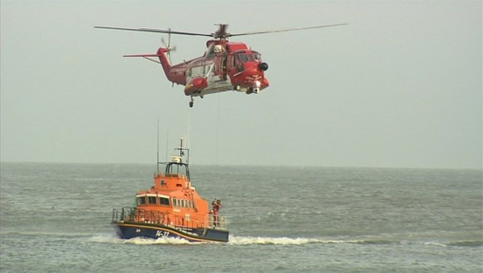 Coastguard saves man thanks to rescue device