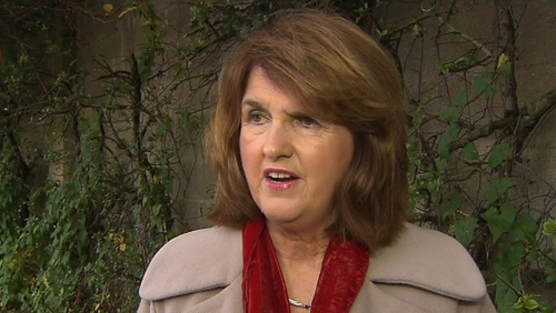 Joan Burton has backed Eamon Gilmore's leadership