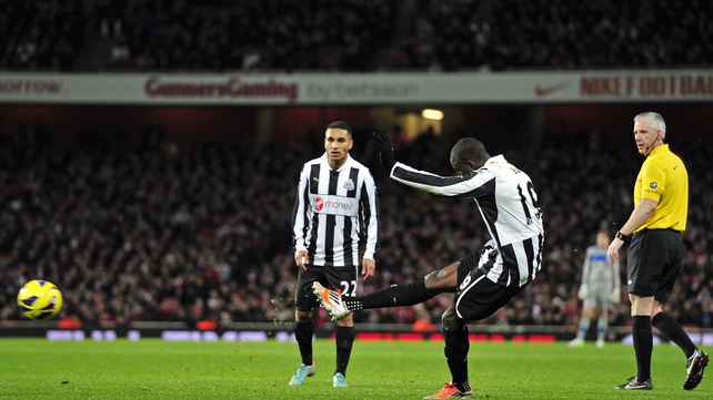 Ba helped himself to a brace as Newcastle went down to Arsenal at the weekend
