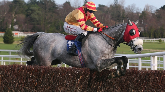 Keith Donoghue partnered Tarquinius to victory at Leopardstown