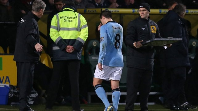 Nasri trods off the pitch at Carrow Road