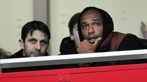 Thierry Henry attended the Barclays Premier League match between Arsenal and Newcastle at The Emirates Stadium on 29 December