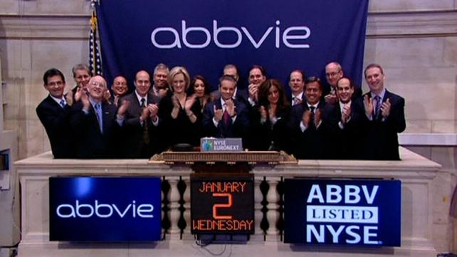 AbbVie began trading on the New York Stock Exchange today