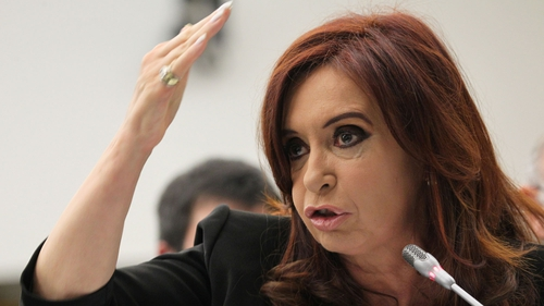 Cristina Fernandez had surgery last month to remove blood that had pooled on the surface of her brain