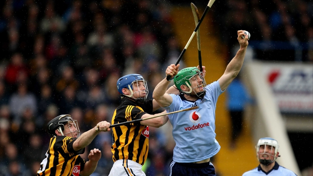 Ryan O'Dwyer takes a high ball against Kilkenny in the Leinster Championship