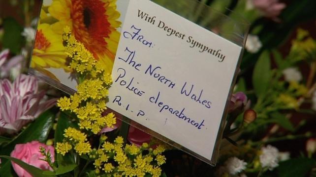 Officers from the North Wales Police department attended the funeral