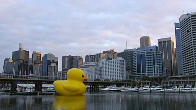 Hofman said his giant duck 'brings people together'