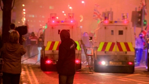 There have been several nights of violent protests since the flag decision by councillors