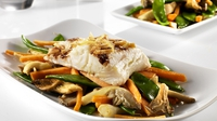 Soy Steamed Cod with Crisp Gingered Vegetables - Paul Flynn provides Lidl with this healthy recipe, perfect to keep you full and fit during January's health kick