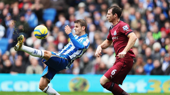 It was an unorthodox effort but Andrea Orlandi's flick set Brighton on the road to the fourth round of the FA Cup