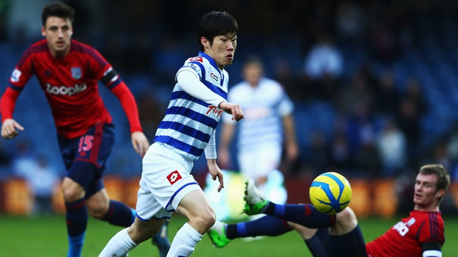 Ji-Sung Park of Queens Park Rangers in action against West Brom today