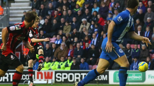Republic of Ireland U-21 international Eunan O'Kane put Bournemouth into the lead just before the break