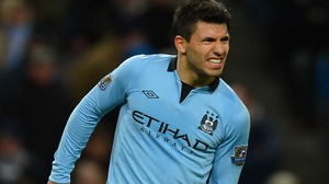 Aguero missed City's 3-0 win over Watford in the FA Cup third round today