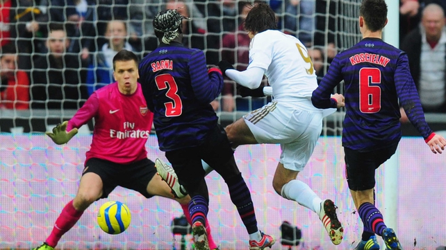 Miguel Michu put Swansea ahead in the second half