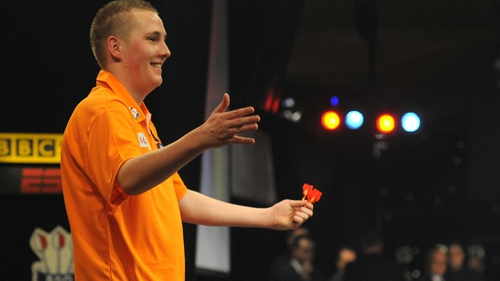 Martin Adams was knocked out 3-2 by Dutch prodigy Jimmy Hendriks