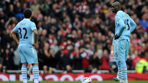 Carlos Tevez and Mario Balotelli have both had their own run ins with manager Roberto Mancini