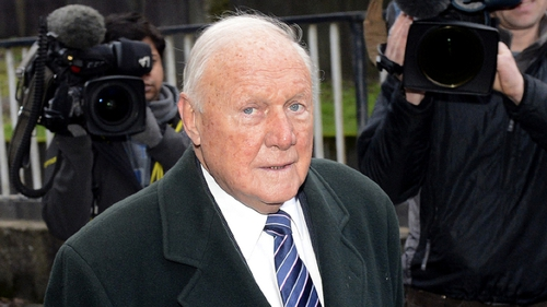 Stuart Hall answered 'guilty' when the charges were put to him at the hearing on 16 April