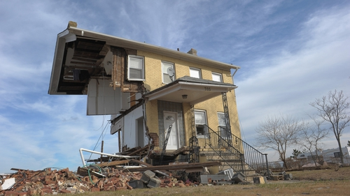 Sandy caused widespread damage across New Jersey and New York