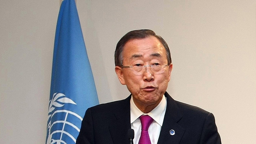 """Ban Ki-moon said the use of chemical weapons is """"a crime against humanity"""""""