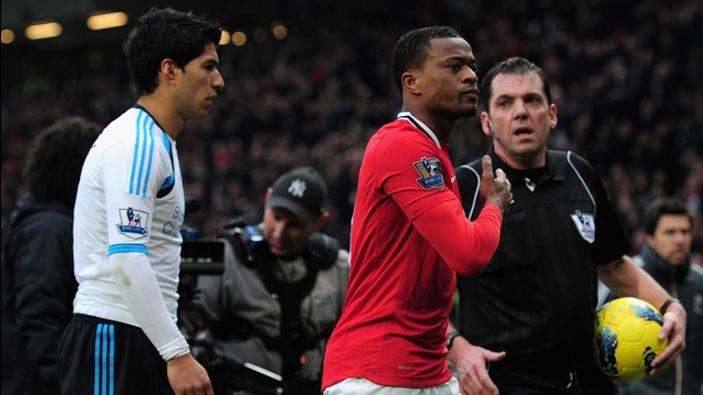 All eyes will be on Luis Suarez and Patrice Evra once again on Sunday