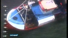 Four men rescued as fishing boat hits rocks off Wexford