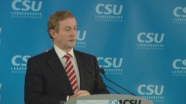 Enda Kenny said it was his first time in Bavaria, but noted that Irish monks first arrived in the fifth century