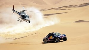 Nasser Al-Atiyah competes during the Dakar rally